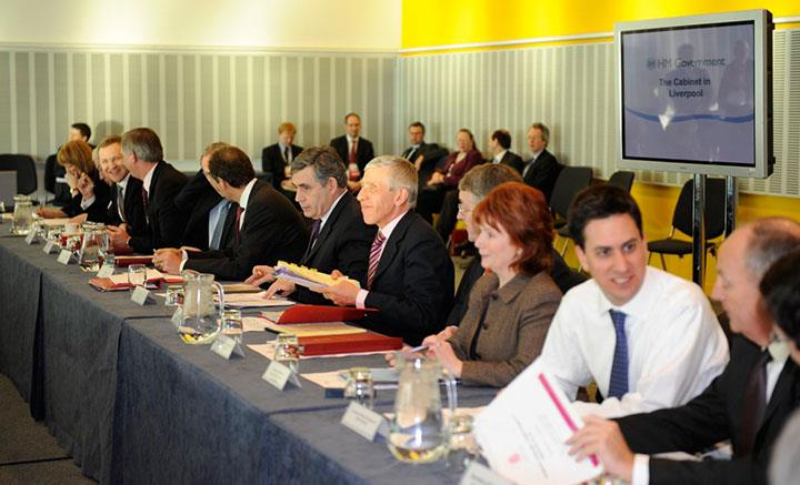 Gordon Brown Cabinet Meeting